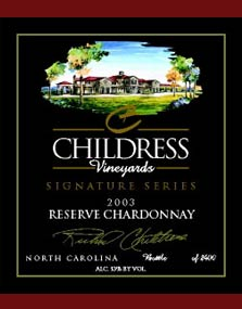 Childress Vineyards in the Yadkin Valley, North Carolina