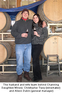 Christopher Tracy and Alison Dubin of Channing Daughters Winery