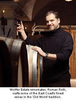Wolffer Estate winemaker, Roman Roth