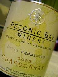 Peconic Bay Winery's Steel Fermented Cahrdoonay