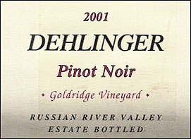 Dehlinger Russian River Valley Pinot Noir