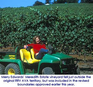 Merry Edwards at her Meredith Estate Vineyard in the Russian River Valley