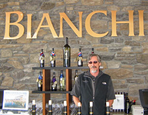 Sunset at Bianchi Winery in Paso Robles