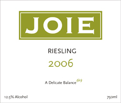 Joie Rielsing is made in a dry German style.
