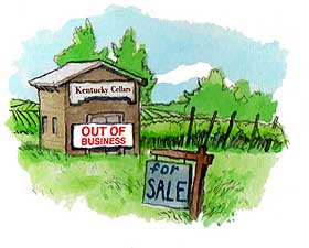 Kentucky legislature passes death-knell law to state wineries.
