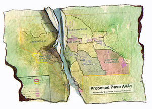The subdivision of the huge Paso Robles AVA
