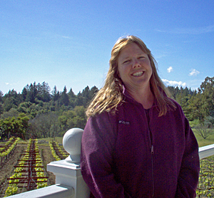 Prudy Fox is the Goddess of the vineyard.