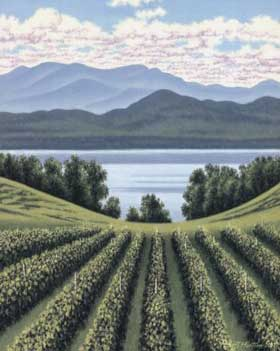 Vermont's Shelburne Vineyard produces organic wines.