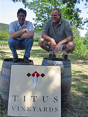 Titus Vineyards first attempt at white wine