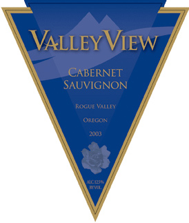 Valley View Cabernet is made from grapes grown in nearby Rogue Valley.